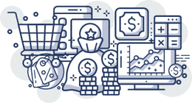 ícone módulo financeiro e de vendas